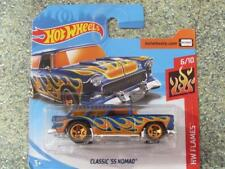 HOT WHEELS 2018 #146/365 Classic 1955 CHEVY NOMAD Blu HW Fiamme