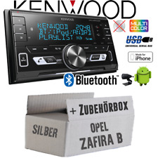 Kenwood Autoradio für Opel Zafira B silber Bluetooth/USB/VarioColor Einbauset