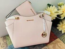 Michael Kors Jet Set Large Chain Shoulder Tote bag  + Wallet Set In Pink NWT