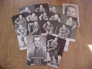 1960-61 Montreal Canadiens Team Issued Post Card Lot (15)
