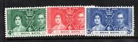 Hong Kong 1937 Coronation MNH set SG137-139 unmounted WS18370