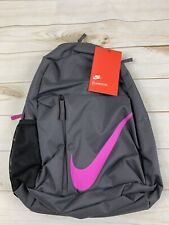 Nike Gray With Pink Swoosh Elemental Backpack 22L