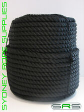 8mm X 100mtrs STUNNING Black Polyester Mooring Rope