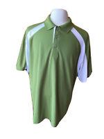 Grand Slam Mens Golfing Green & White Golf Polo Shirt - Size XL
