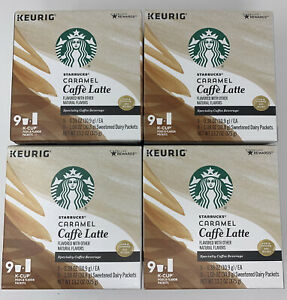 STARBUCKS Caramel Caffe Latte 2 Step K-Cups 36 count Best By 6/13/2020