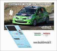 DECAL 1:43 RENAULT CLIO R3 VIALLE RALLY MONTECARLO 2019