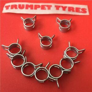 10X Spring Band Type Fuel Petrol Pipe Hose Clips Silicone Clamp Low Pressure Air