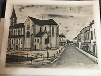 Bernard Buffet LARGE Lithograph ARCHITECTURE SIGNED !