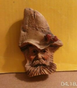 Herb Burgess Signed Wood Spirit Carved Primitive Folk Art