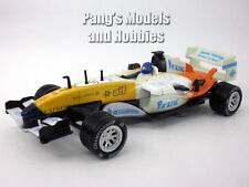 5.5 Inch Formula Race Car Scale Diecast Metal Model by Kingstoy - WHITE/YELLOW