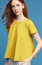 Anthropologie Westward Top by Eri + Ali Yellow Petite Small PS NWT Retail $58