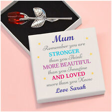 PERSONALISED Stronger Beautiful Loved Birthday Gifts for Mummy Nanny Mum Mom