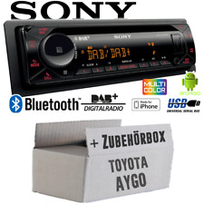 Autoradio Sony für Toyota Aygo Bluetooth   DAB+   CD/MP3/USB KFZ PKW Einbauset
