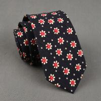 New Men's Cotton Floral Tie Neck Tie Wedding Necktie Narrow Slim Skinny SK403