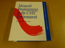 BOOK HARDCOVER W. RICHARD STEVENS / ADVANCED PROGRAMMING IN THE UNIX ENVIRONMENT