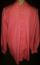 Ralph Lauren Mens Long Sleeve Button Front Shirt Size 15 1/2-32-33 Medium Pink