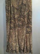 Coldwater Creek 3x Beautiful Earthy Brown Gold Shimmer Skirt! NWOT Mid-Calf