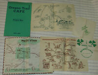 VTG OREGON TRAIL CAFE MENU/PETE'S CAFE,PRICE UTAH,AVION PLACEMAT/NUNN'S NAPKIN!+