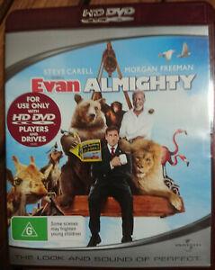 Evan Almighty, HD DVD. Region Free. Steve Carell, Morgan Freeman, John Goodman.