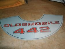 1969 1970 1971 OLDSMOBILE 442 4-4-2 AIR CLEANER TOP LID DECAL STICKER NEW CORREC