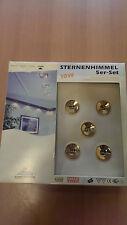 Einbauleuchten, Sternenhimmel 5er-Set gold 10 Watt Einpunktlichter Trafo inkl.