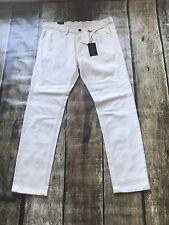 Sean John Straight Off White Jeans Mens 36X32 New