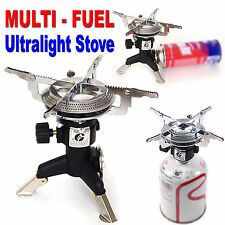 Tackyon Gas Stove Multi Fuel Burner Outdoor Camping Fishing Hiking Backpacking