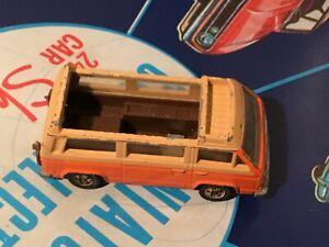 1981 Hot Wheels Sunagon Camper #3251  VW Camper in Orange busted up filler