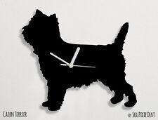 Cairn Terrier Dog Silhouette - Wall Clock