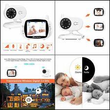 BabyPhone Vidéo Sans fil Multifonctions Couleur Audio Nocturne, Surveillance
