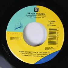 Country 45 Kenny Rogers - When You Put Your Heart In It / Planet Texas On Jen Pr