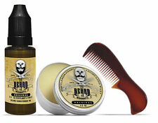 The Beard & The Wonderful, Moustache Kit - Wax, Oil & comb Kit