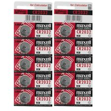 10 PCS Maxell CR2032 CR 2032 3V Button Coin Cell Battery Made in Japan EXP 2024