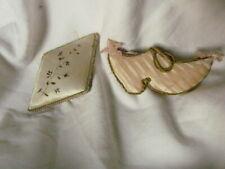 2 anciens pique aiguille soie art populaire 19ème