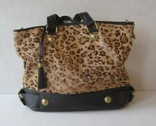 "DOLCE GABBANA Leopard Handbag Shoulder Bag Womens Chain Size 15""x12""x6"""
