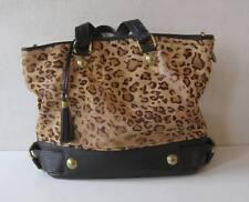 "DOLCE GABBANA Leopard Handbag Shoulder Bag Womens Chain Size 15""x12""x6"""