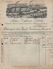 DÖBELN, Rechnung 1911, Feine Holzwaren und Luxus-Möbel-Fabrik Franz Dyhrsen
