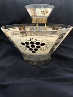 Vintage Anchor Hocking - Golden Grapes Chip & Dip 2 Bowl Set