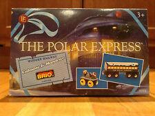 New POLAR EXPRESS BRIO~Wooden Railway~Coach/ Caboose & Elf Train HandCar 2 Piece