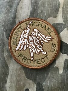 St. Michael Protect Us Embroidered Tactical Morale Patch Military USA