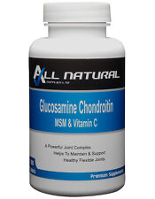 Glucosamine Chondroitin MSM and Vitamin C 180 Tablets by All Natural Supplies