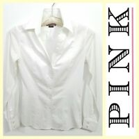 Thomas Pink $165 women's fitted slim-fit classic stretch cotton white shirt~2/US