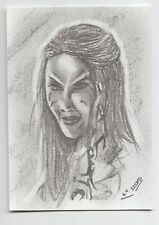 ACEO Graphite Pencil Sketch Card Wraith Queen from Stargate Atlantis