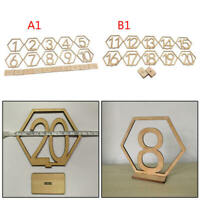 10pcs Wooden Hexagon 1-10 11-20 Table Numbers for Wedding Party Home Decoration
