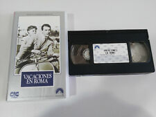 HOLIDAY IN ROME GREGORY PECK-AUDREY HEPBURN WILLIAM WYLER VHS TAPE SPANISH