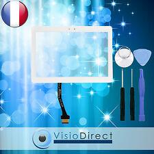 "Vitre ecran tactile pour Samsung Galaxy Tab 2 10.1"" P5100 P5110 blanc + adhésif"