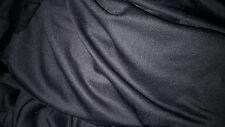 tela algodón de jersey lycra cuello negro gruesas 100x150 cm