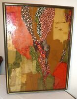 quality original modern abstract Sardinia collage assemblage painting Italy