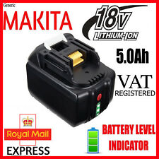 for MAKITA 18V 5.0Ah  Battery  BL1850 + + CHARGE INDICATOR + WARRANTY