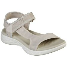 LADIES SKECHERS ON THE GO 600 RUBIX NATURAL STRAPPY SANDALS 16176/NAT